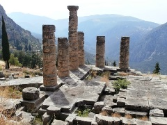 Delphi, the navel of the world, Greece